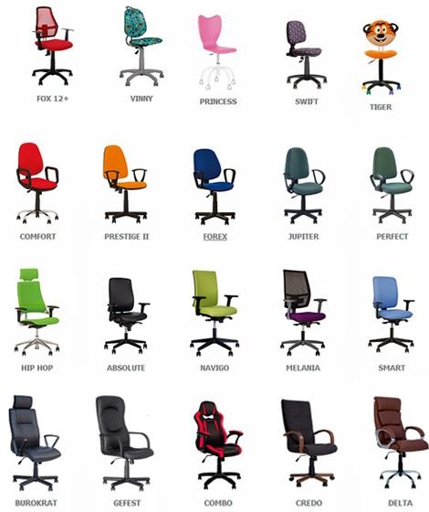 Кресла и стулья компьютерные, офисные и детские