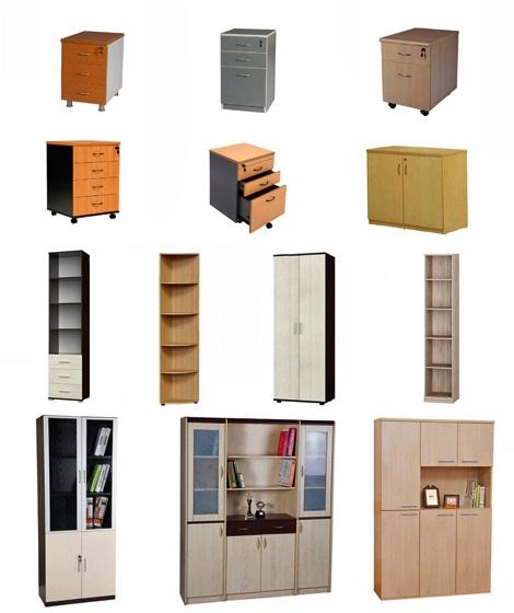 Шкафы, тумбы, пеналы, угловые секции для офиса и дома