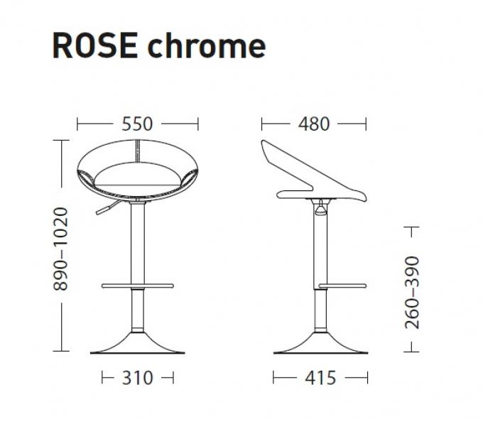 Стул ROSE hoker chrome